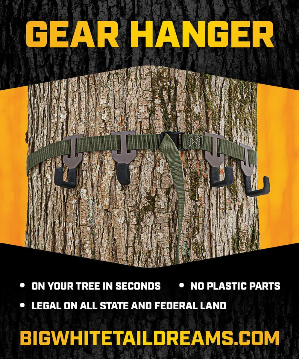 GEAR HANGER - On Your Tree in Seconds & NO Plastic Parts